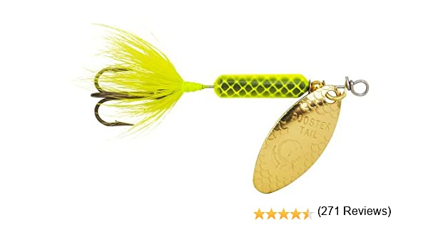 Yakima Cebo Wordens Original Rooster Tail Spinner Lure, Chartreuse: Amazon.es: Deportes y aire libre