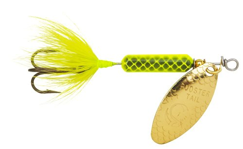 Yakima Bait Wordens Original Rooster Tail Spinner Lure, Chartreuse, 1/6-Ounce Chr Rooster
