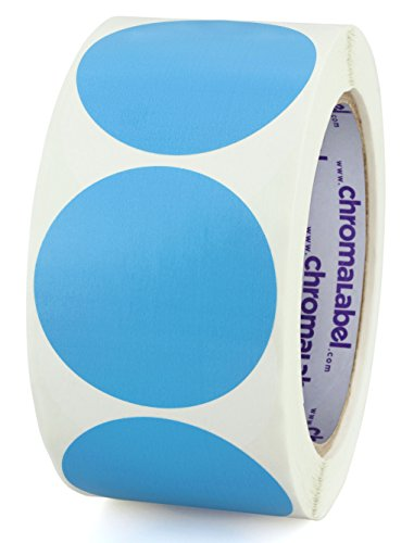 ChromaLabel 2 inch Color-Code Dot Labels | 500/Roll (Light -