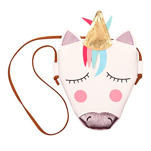 Slowera Baby Toddler Little Girls PU Leather Unicorn Crossbody Bag]()