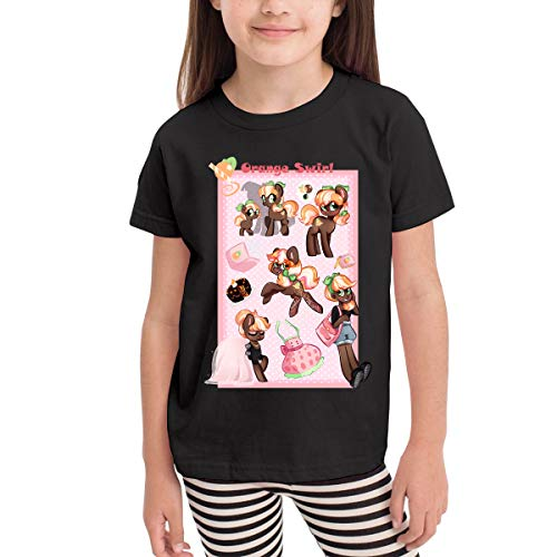 Quxueyuannan Children's T-Shirt, Cookie Swirl Pattern Shirt Short Sleeve Cotton Graphic Tee for Girls Boys Kids -