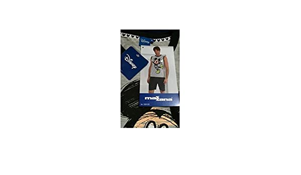 Amazon.com: Massana - Pijama Mickey Mouse MASSANA Sin Mangas Hombre Disney Tallas S-XL - GRIS, S: Clothing