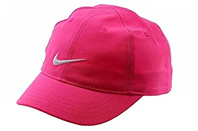 NIKE Girl's Embroidered Swoosh Logo Cotton Baseball Cap Sz: 4/6X by Nike