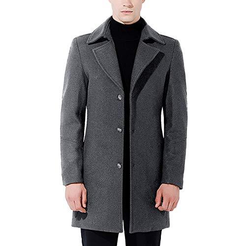 Classic Grigio Man Wool Caban Fashion Long Coat Warm Coat Allthemen Winter Trench vP1Afqvw