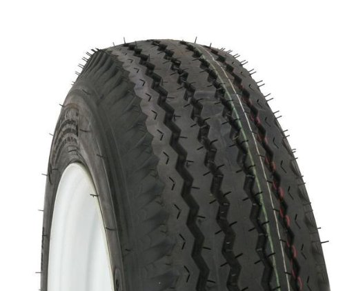 Kenda Trailer Tire/Wheel Assembly – 6-Ply Rated/Load Range C – 4.80-12 – 5 Hole Rim 30660
