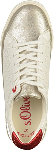 s.Oliver 5-23635-20 Damen Sneakers Weiß(White Comb.)