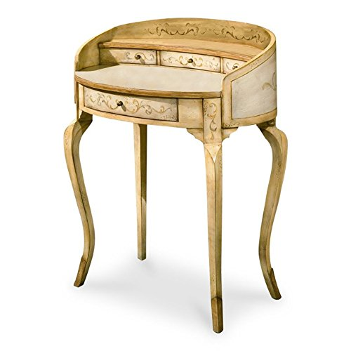 Butler specality company BUTLER 1335041 DAMOSEL TUSCAN CREAM HAND PAINTED LADIES WRITING DESK