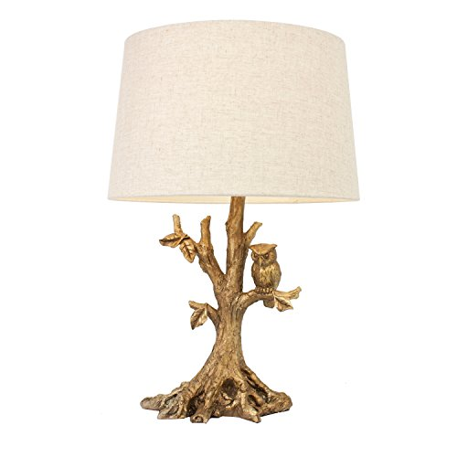 Tree Branch Gold (Decor Therapy Textured Gold Leaf Owl Lamp)
