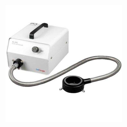 AmScope HL150-AR Microscope Halogen Fiber Optic Ring Illuminator 150W (150 Scope)