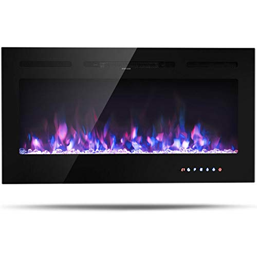 """simplyUSAhello 40"""" Electric Fireplace Recessed Wall Mounted with Multicolor Flame na"""