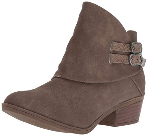 Blowfish Women's Sistee Ankle Boot, Mushroom Rustic Faux Suede, 8 Medium US