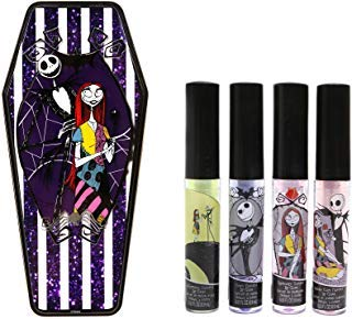Nightmare Before Christmas Lip Gloss and Collectible Coffin Tin Case -