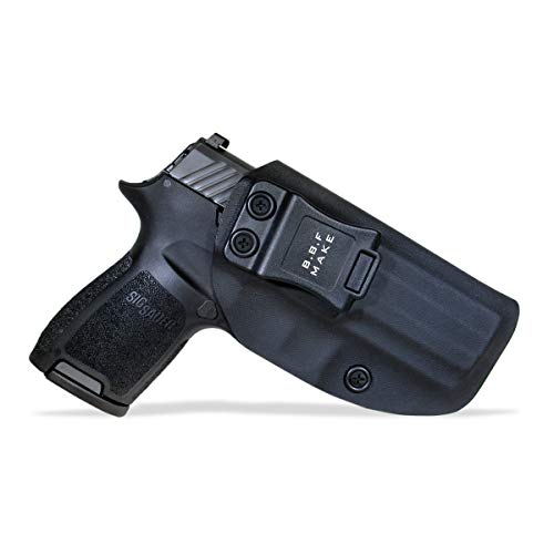 B.B.F Make IWB KYDEX Holster Fit: Sig Sauer P320 Carry/Compact | Retired Navy Owned Company | Inside Waistband | Adjustable Cant | US KYDEX Made (Black, Right Hand Draw (IWB))