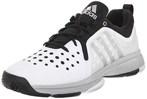 adidas Performance Men's Barricade Classic Bounce M Wid Tennis ShoesWhite/Metallic Silver/Black7.5 M US