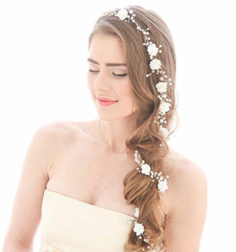Accessoire-pour-cheveux-de-la-marque-Aukmla-Fleurs-sur-fil-argent
