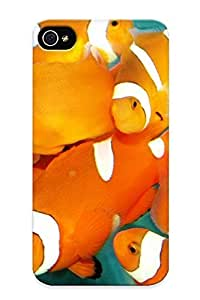 Stylishgojkqt Case Cover Protector Specially Made For Iphone 4/4s Fish Clownfish