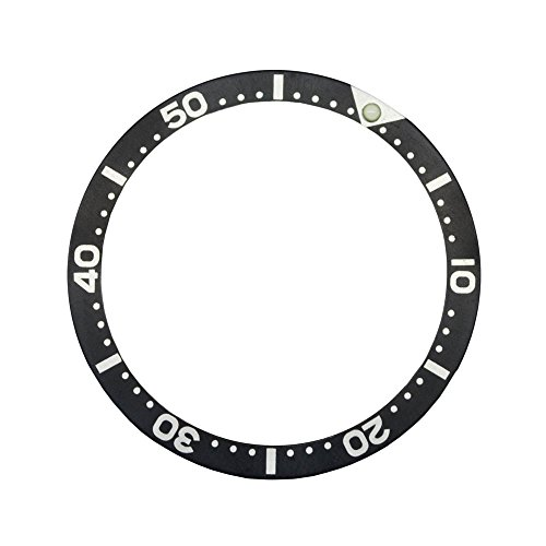 (Black Aluminium Insert for Bezel from Scuba Diver SKX Watches Seiko Old Model 6309/7002/7S26(SKX) Divers)