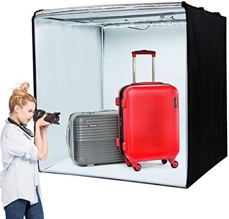 Amazon Com Amzdeal Photography Light Box 32 X 32 Upgraded Photo Studio Professional Photography Tent With Led Light 3 Backdrops White Black Orange Camera Photo