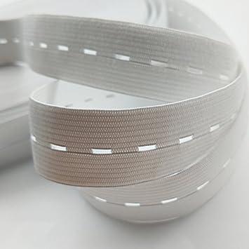 Chenkou Craft Timbre Noir ou blanc élastiques Bobine de fil à coudre Band  Cordon élastique plat avec boutonnière, noir, 1