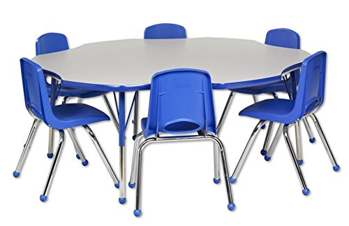 School 12 Chair Stack (ECR4Kids 60
