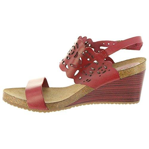 Rouge Single Pour Kickers 4 Femme 50 Sandales 609650 wgngH4