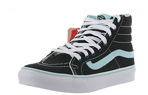 Vans Ski8 Hi Shoe, Pop Nero / Blu Tinta, 7.5 Mens