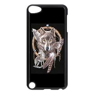chen-shop design C-EUR Customized Print Wolf Dream Catcher Pattern Hard Case for iPod Touch 5 high XXXX