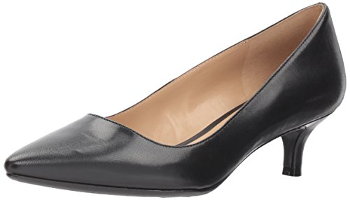 Naturalizer Women's Pippa Pump, Black Leather, 4.5 M US