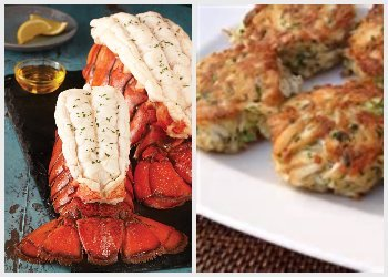 Maryland Crab Cake-Maine Lobster Tail Combo by Philly Food