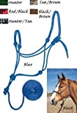 Weaver Leather HALTER,ROPE,DIMD BRAID,BLUE