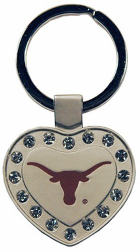 Longhorns Ncaa Key Ring Texas (Game Day Outfitters NCAA Texas Longhorns Metal Heart I Luv Keychain)