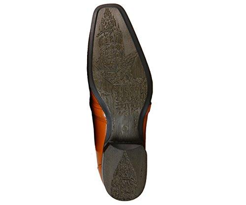 Amali Heren Soepele Moc Teen Slip Op Klassieke Kledingschoen, Comfortabele Loafer, Stijl 8001 Tan