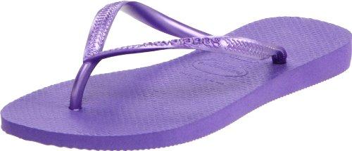Havaianas Women's Slim Flip Flop Sandal, Purple, 7-8 M US]()