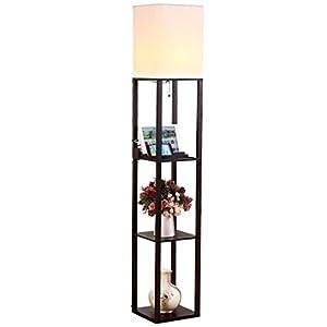 Brightech U2013 Maxwell USB Shelf Floor Lamp U2013 Mood Lighting For Your Living  Room And Bedroom U2013 Shade Diffused Light Source With Open Box Shelves U2013  Classic ...