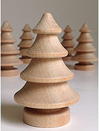 Peerless 20Pcs Unfinished DIY Wood Christmas Tree Natural Wooden Xmas Tree Wedding Party Decoration Craft Kid Graffiti Drawing Toy