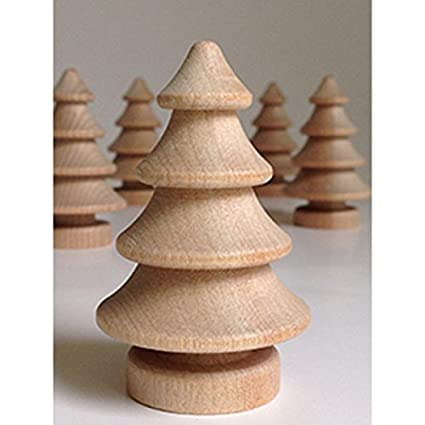 Set Of 5 Unfinished Wood 3d Christmas Trees 2 75 Inches Tall By My Craft Supplies