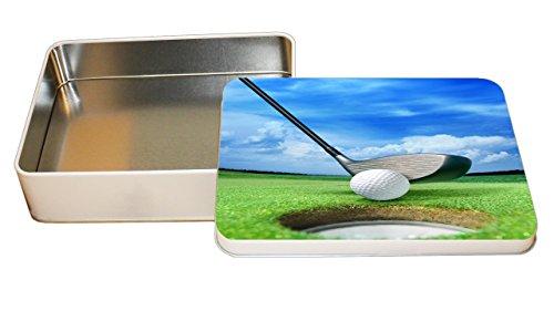 Golf Ball Near Bunker Decorative Metal Tin Trinket Box 4