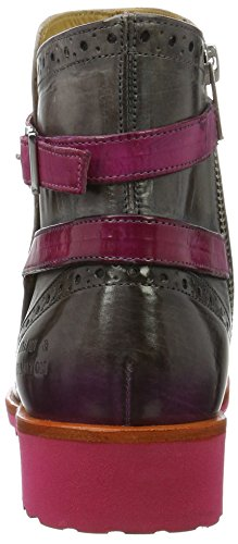 Melvin&Hamilton Amelie 11 - Botines Mujer Grau (Crust Morning Grey/ Shade Fuxia/ Strap Fuxia, Rook D Fuxia)