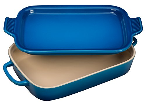 Le Creuset Stoneware Rectangular Dish with Platter Lid, 14 3/4