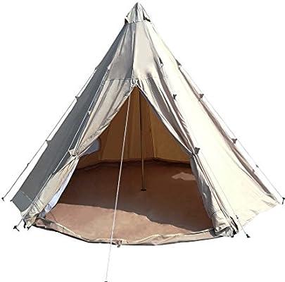 tienda de campaña tipi de lona de algodón impermeable de 4 m tienda de campaña de campaña tipi india con costura cosida en Groundsheet: Amazon.es: Deportes y aire libre
