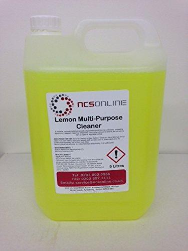 Lemon Multi Purpose Cleaner 5L with FREE 750ml Spray Bottle NCSONLINE