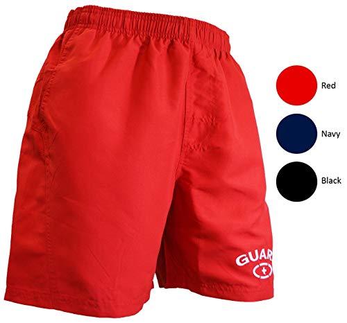 Adoretex Mens Guard 18 Swim Board Shorts Swim Trunks Mesh Liner - MG002 - Red - L