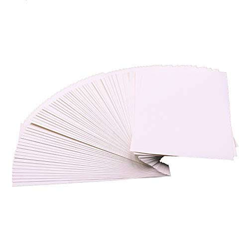 100% Cotton Rag Paper - 60 Sheets 100% Rag Cotton Watercolor Paper Cold Press Cut Bulk Pack for Beginning Artists 6 x 9 Inch
