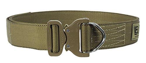 Elite Survival Systems ELSCRB-T-M Cobra Rigger's With D Ring Buckle Belt, Coyote Tan, Medium (Tan Cobra Buckle Belt)