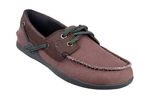 Xero Shoes Boaty - Women's Slip On Boat Shoe - Barefoot Inspired Minimalist Zero Drop Canvas Casual Shoe - Rosewood