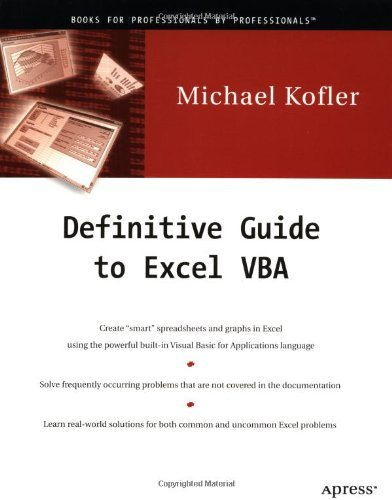Definitive Guide to Excel VBA: 1st (First) Edition
