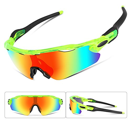 FEISEDY Polarized Sports Sunglasses REVO Changeable Lenses TR90 Frame Cycling - Sunglasses Revo