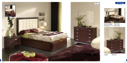 ESF Alicante 515 Contemporary Wenge Finish Bedroom Set with Storage - Queen Size by (ESF) European Style Furniture