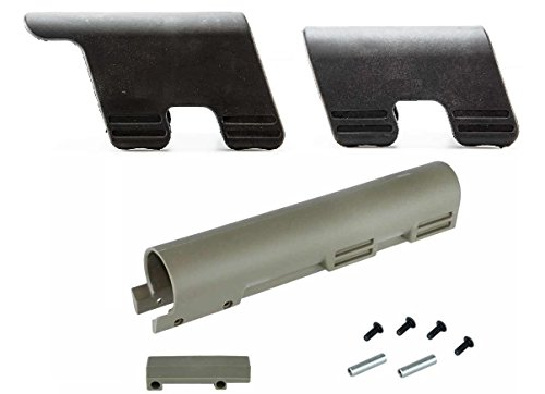 Thordsen Customs FDE Flat Dark Earth Tan .223 5.56 Carbine Rifle Standard Tube Cover Kit Legal in CA NY + Ultimate Arms Gear Set Of 2 Cheek Rest 0.7