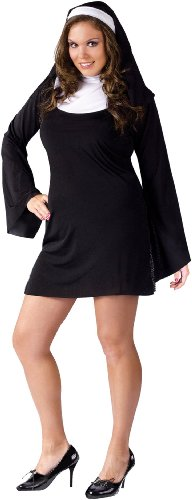 Naughty Nun Costume - Plus Size 1X/2X - Dress Size 16-20 -